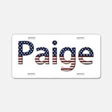 Paige Stars and Stripes Aluminum License Plate