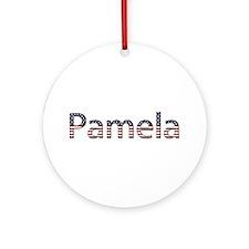 Pamela Stars and Stripes Round Ornament