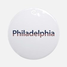 Philadelphia Stars and Stripes Round Ornament