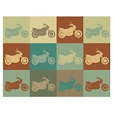 Biking Pop Art Poster