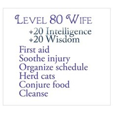 Lvl 80 Wife Poster