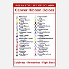 Relay For Life Cancer Ribbon Colors
