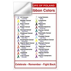Relay For Life Cancer Ribbon Colors Wall Decal