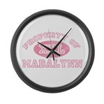 Property of Madalynn Large Wall Clock