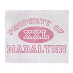 Property of Madalynn Throw Blanket