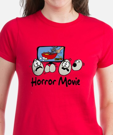Scrambled Eggs Horror Movie Women's Dark T-Shirt