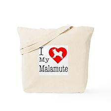 I Love (Heart) My Malamute Tote Bag