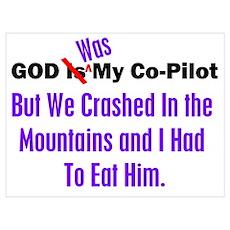 God was my co-pilot purple Poster