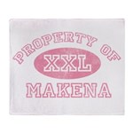 Property of Makena Throw Blanket