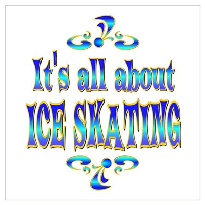 About Ice Skating Poster