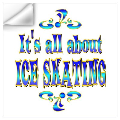 About Ice Skating Wall Decal