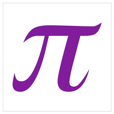 Purple Pi Symbol Poster