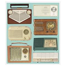 Classic Radios Poster