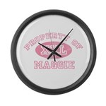 Property of Maggie Large Wall Clock