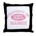 Property of Maggie Throw Pillow