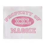 Property of Maggie Throw Blanket