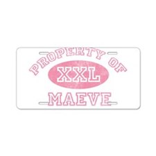 Property of Maeve Aluminum License Plate