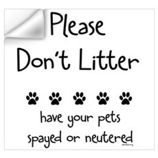 Please Dont Litter Wall Decal