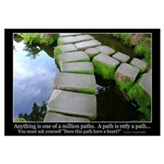 a path is just a path Framed Print