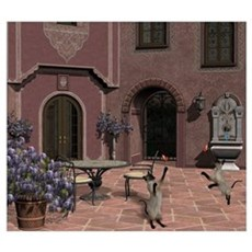 Quiet Courtyard Framed Print