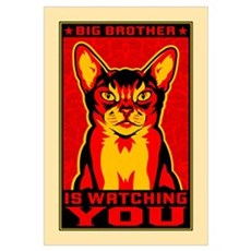 CAT - Big Brother Propaganda Canvas Art