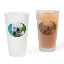 Carin Terrier Christmas Drinking Glass