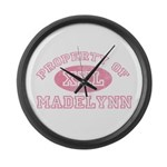 Property of Madelynn Large Wall Clock