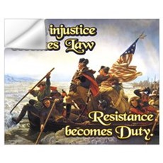 When Injustice Becomes Law Wall Decal