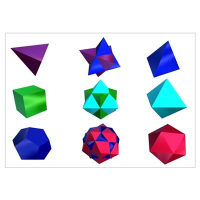 of Platonic Solids and Compound Poster