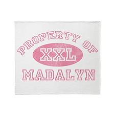 Property of Madalyn Throw Blanket