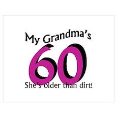 Grandma's 60th Birthday Poster