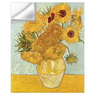 Van Gogh Sunflowers Wall Decal