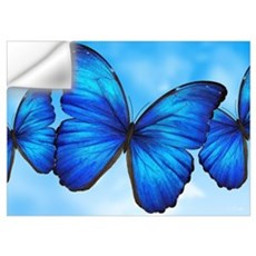 Blue Butterfly Wall Decal