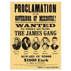 Wanted The James Gang Poster