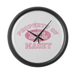 Property of Macey Large Wall Clock