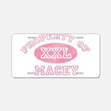 Property of Macey Aluminum License Plate
