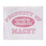 Property of Macey Throw Blanket