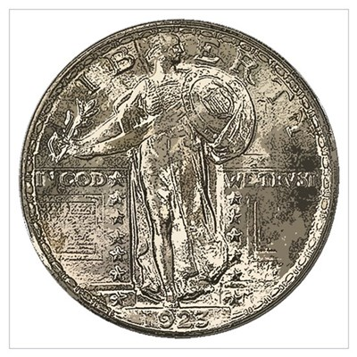 Standing Liberty Obverse Poster