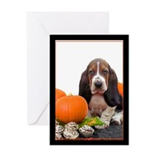 Halloween Basset Hound Greeting Card
