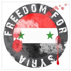 Freedom for Syria bloody Poster