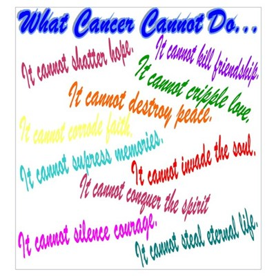 Cancer cannot Canvas Art