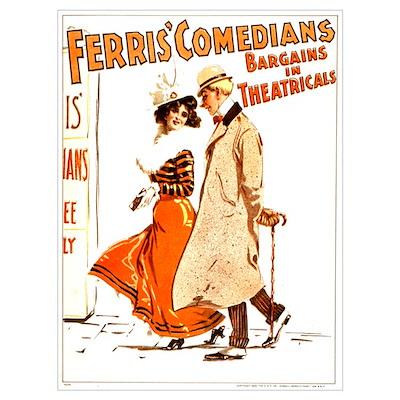 Ferris Comedians (B) Poster