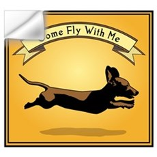 Flying Wiener Dog Wall Decal