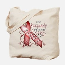 I Wear Burgundy Becase I Love Tote Bag