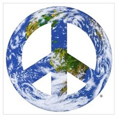 World Peace Sign East Framed Print