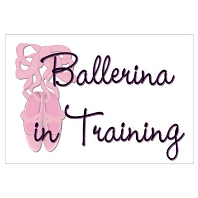 Ballerina in Training Framed Print