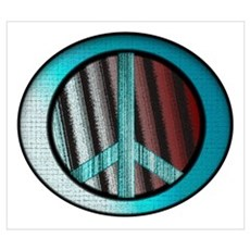 Peace Sign Oval Poster