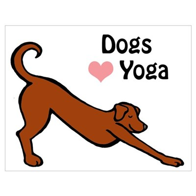 Dogs Love Yoga Poster