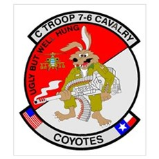 C TROOP 7-6 CAV COYOTES Poster