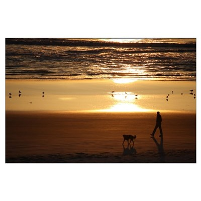 Large Beach Scene Poster